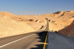 Way of desert. Royalty Free Stock Photo