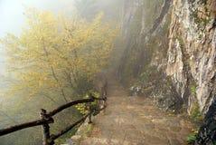 Way down. Mountain area near Sumela monastery in Turkey Stock Photography
