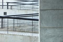 Way down or ascent a ramp Royalty Free Stock Photos