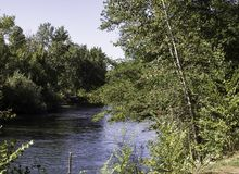 On The Boise River. Way down upon the Boise river royalty free stock image