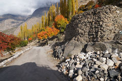 The way down the mountain to Hunza Valley, Stock Photos