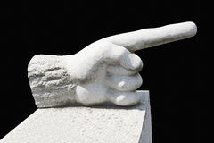 Finger pointing Royalty Free Stock Image