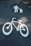 Way For Pedestrians And Bikes Royalty Free Stock Images