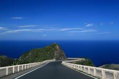 Way forward. Tenerife, beautiful sky, sea, asphalt way forward Royalty Free Stock Image