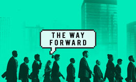 The Way Forward Aim Ahead Vision Target Success Concept Stock Image