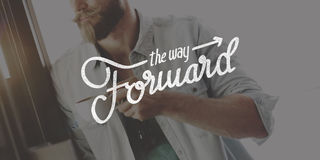 The Way Forward Aspirations Goals Target Development Concept. People Having Brand The Way Forward Aspirations royalty free stock photography
