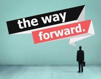 The Way Forward Development Aspiration Goal Concept Stock Photo