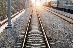 The way forward railway in the China Royalty Free Stock Image