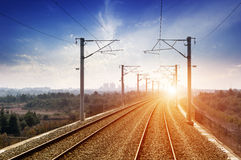 The way forward railway in the China Royalty Free Stock Photos