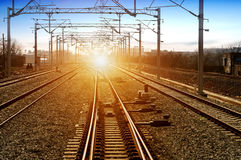 The way forward railway in the China Stock Image