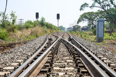 The way forward railway Royalty Free Stock Images