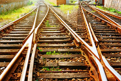 The way forward railway in the dusk. The way forward railway in the China Stock Photo