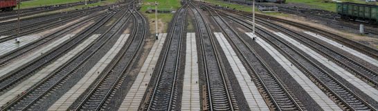 The way forward railway. Landscape photo of the way forward railway Stock Images