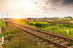 The way forward railway Royalty Free Stock Photography