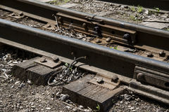 The way forward railway. Stock Photo