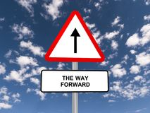 The way forward road sign Royalty Free Stock Images
