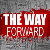 The way forward word cloud Royalty Free Stock Photography