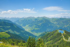 The Way from Fulseck to  Dorfgastein, Austria Stock Photography