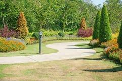Way in the garden Stock Photo