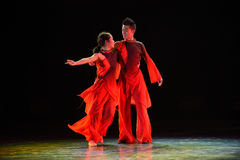 Way of getting along-Modern dance Royalty Free Stock Images
