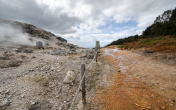 Way between the geysers. In Monterotondo in Grosseto Royalty Free Stock Image