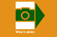 Way is given Stock Image