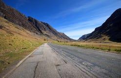 Road through Glencoe, Scotland, UK Stock Image