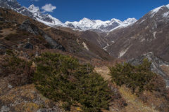 Way between the Gokyo and Machhermo Stock Photo
