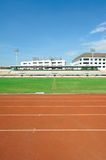Way grid race grass football stadium Stock Photography