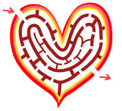 The way of heart. The maze of your heart; Find the way out to your happiness Royalty Free Stock Photos