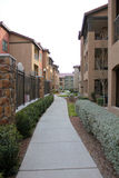 Way Home. A row of new townhouses or condominiums Royalty Free Stock Image