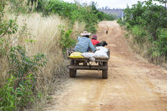 On the way home. Rural farmers on their way home in thailand Royalty Free Stock Photos