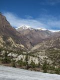 On the way from Humde to Manang Stock Photos