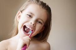 This is the way I brush my teeth royalty free stock photo