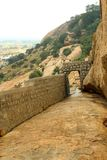 The way of jain stone beds of sittanavasal cave temple complex. Sittanavasal is a small hamlet in Pudukkottai district of Tamil Nadu, India. It is known for the royalty free stock photos