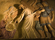 Way of Jesus on the calvary - Barcelona Royalty Free Stock Photography