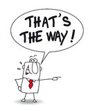 That is the way. John says that is the way. Follow this way please vector illustration