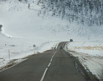 On the way from Khuzhir village to Lake Baikal, Russia. stock image