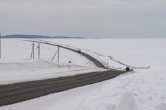 On the way from Khuzhir village to Lake Baikal, Russia. royalty free stock photos