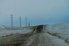 On the way from Khuzhir village to Lake Baikal, Russia. royalty free stock photo