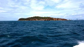 Way from Koh Larn to Pattaya. stock video footage