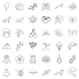 Way of life icons set, outline style Royalty Free Stock Photography