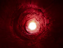 Way into the light. Paranormal death or Hell visio Royalty Free Stock Photos
