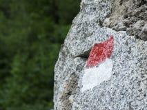 Way marking on granite Royalty Free Stock Images