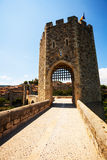 Way into medieval town. Besalu Stock Photos