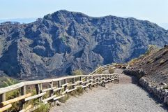 Way from mount Vesuvius royalty free stock photos