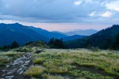 Way on mountain. Walk way at poon hill,ghorepani nepal Royalty Free Stock Photo