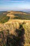 Way through mountain grassy ridge Stock Images
