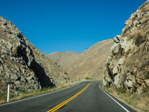 Way on mountain of sequoia national forest. In California, USA Stock Images