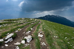 Way in Mountains. Mountains by Lake Garda in North Italy Stock Photos